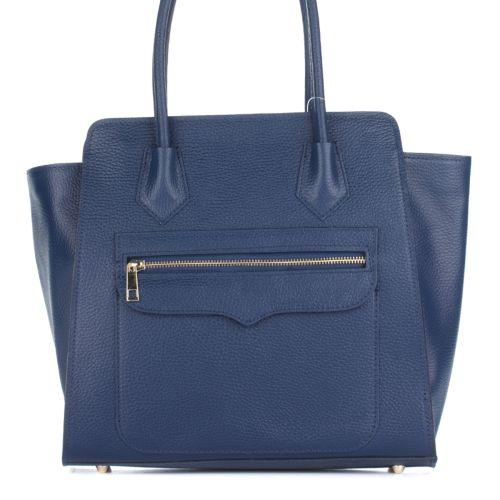 Женская кожаная сумка 1895 синяя Италия