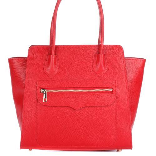 Женская кожаная сумка 1895 красная Италия
