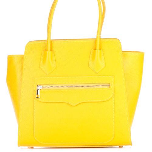 Женская кожаная сумка 1895 желтая Италия