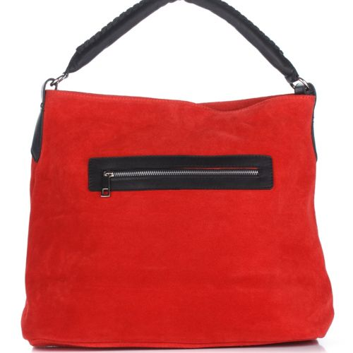Женская замшевая сумка 1927 красная Италия