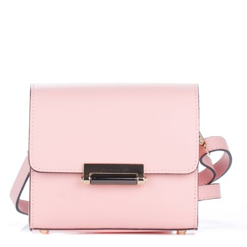 Женский кожаный клатч 1938 розовый Италия
