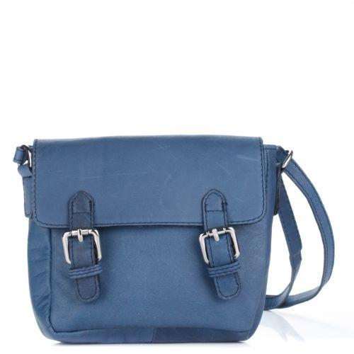 Женский кожаный клатч 1970 синий Италия