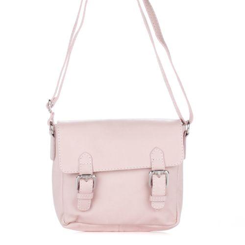 Женский кожаный клатч 1970 розовый Италия
