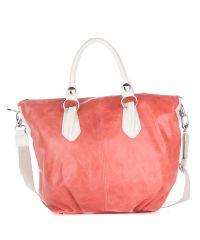 Женская замшевая сумка 2057 коралловая Италия