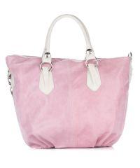 Женская замшевая сумка 2057 розовая