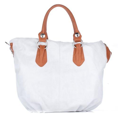 Женская замшевая сумка 2057 белая Италия