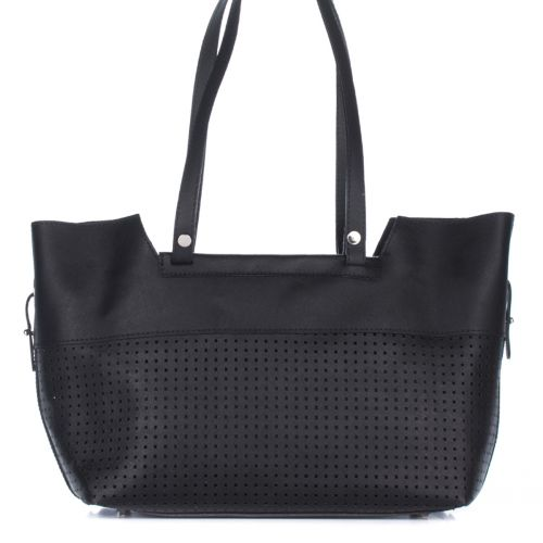 Женская кожаная сумка 2087 черная Италия