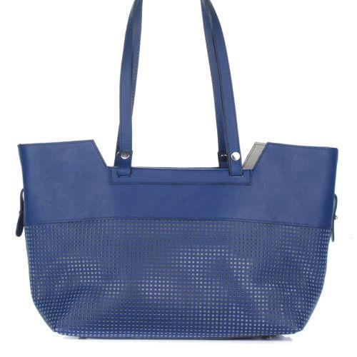 Женская кожаная сумка 2087 синяя Италия