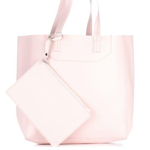 Женская кожаная сумка 3000 розовая Италия