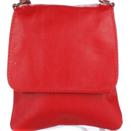 Женский кожаный клатч 505 красный Италия