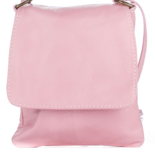 Женский кожаный клатч 505 розовый Италия