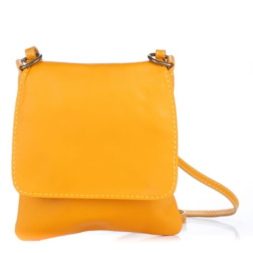 Женский кожаный клатч 505 желтый Италия