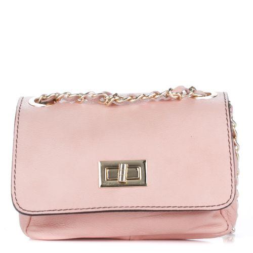 Женской кожаный клатч 68662 розовый Италия
