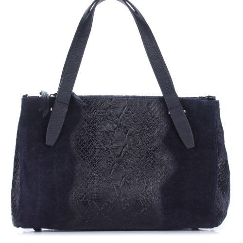 Женская кожаная сумка 8157 синяя Италия