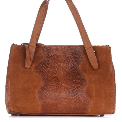 Женская кожаная сумка 8157 рыжая Италия