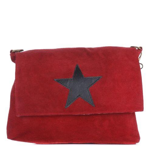 Женская замшевая сумка 8160 красная Италия