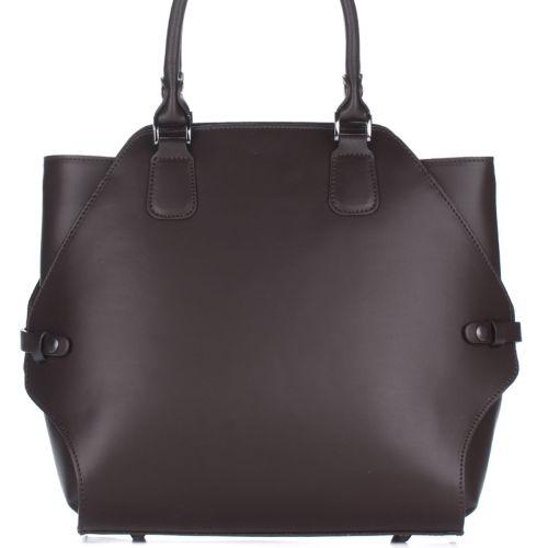 Женская кожаная сумка 8164 шоколадная Италия
