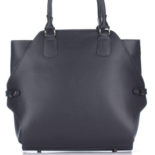 Женская кожаная сумка 8164 серая Италия