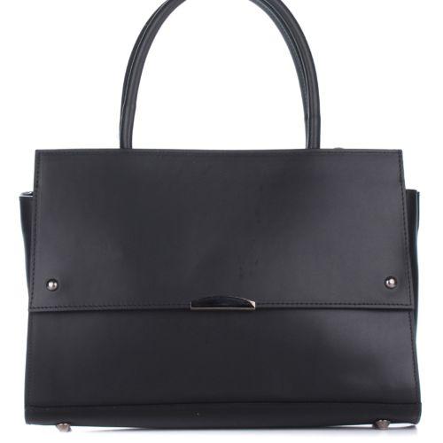 Женская кожаная сумка 8171 черная Италия