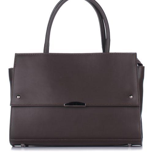 Женская кожаная сумка 8171 шоколадная Италия