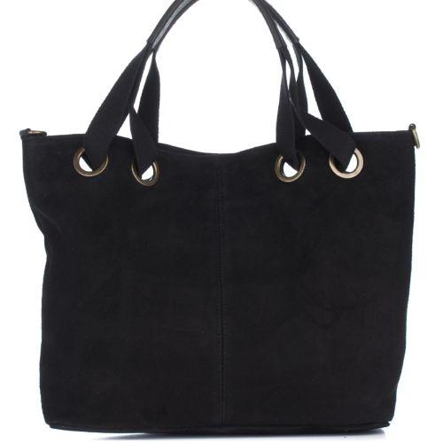 Женская замшевая сумка 8174 черная Италия