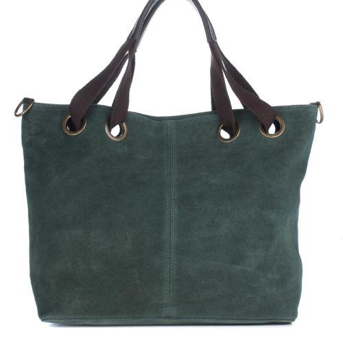 Женская замшевая сумка 8174 зеленая Италия