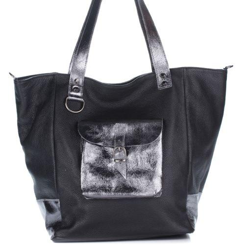 Женская кожаная сумка 8187 черная Италия