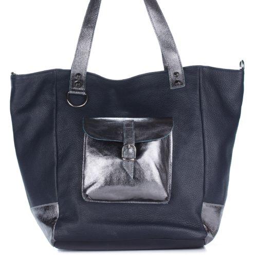 Женская кожаная сумка 8187 синяя Италия