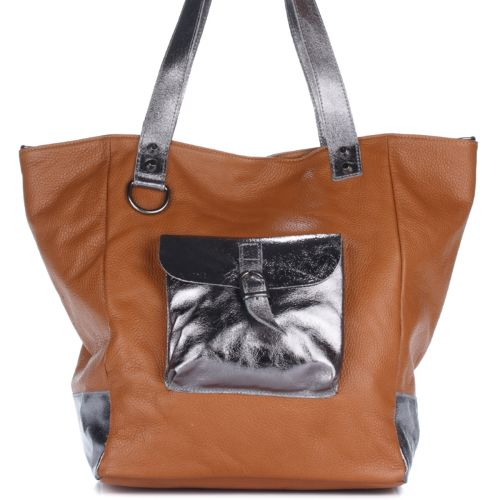 Женская кожаная сумка 8187 рыжая Италия