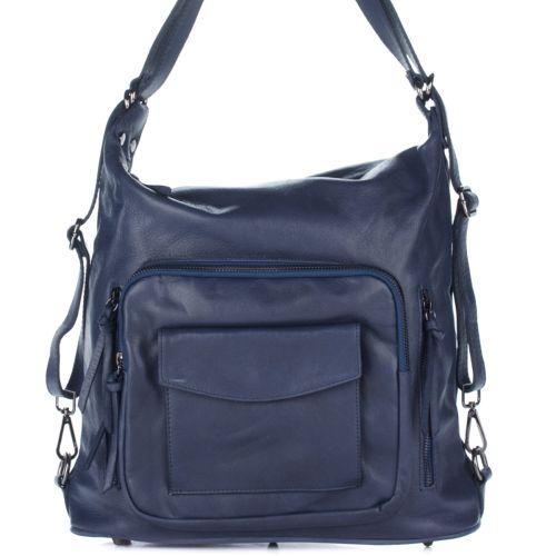 Женская кожаная сумка 8213 синяя Италия
