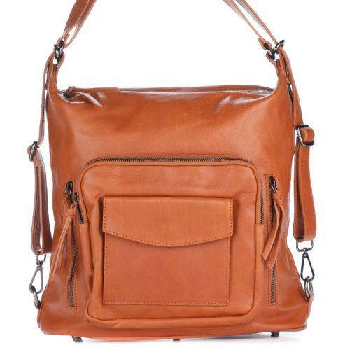 Женская кожаная сумка 8213 рыжая Италия