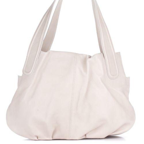 Женская кожаная сумка 8216 молочная Италия