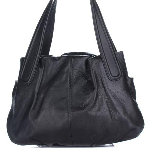 Женская кожаная сумка 8216 черная Италия