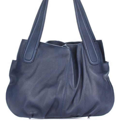 Женская кожаная сумка 8216 синяя Италия