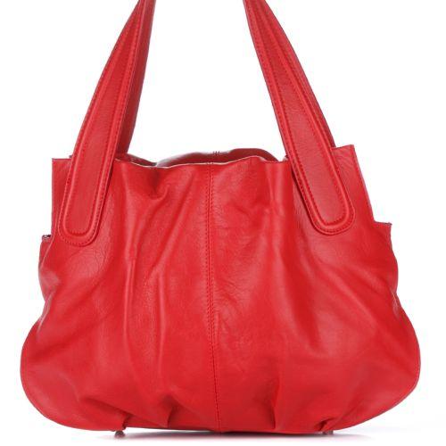 Женская кожаная сумка 8216 красная Италия