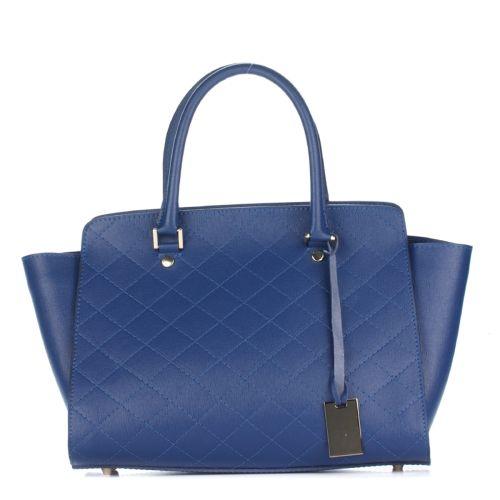 Женская кожаная сумка 8252 синяя Италия