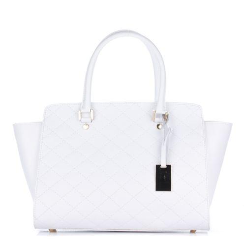 Женская кожаная сумка 8252 белая Италия