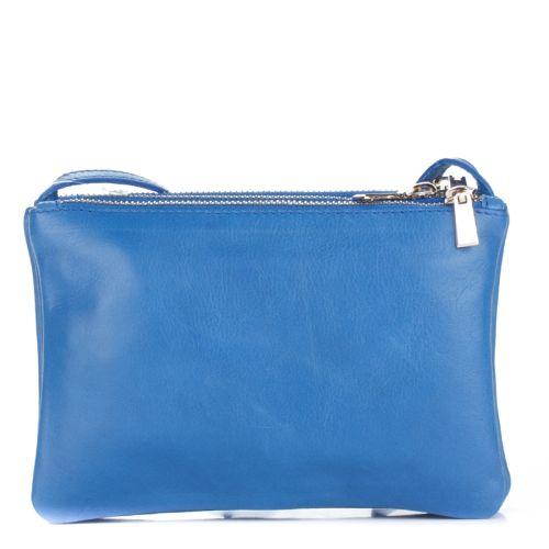 Женский кожаный клатч 850 синий Италия