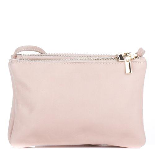 Женский кожаный клатч 850 розовый Италия