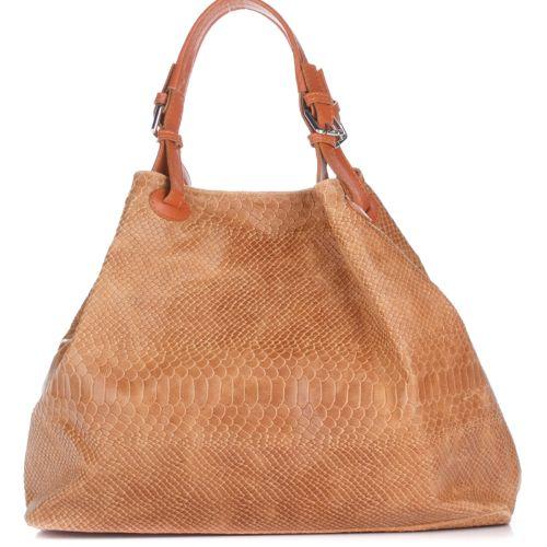 Женская кожаная сумкка 898 рыжая Италия