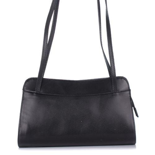 Женская кожаная сумка 9120 черная Италия