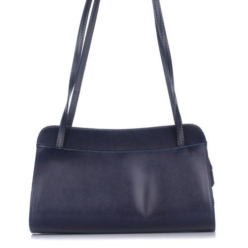 Женская кожаная сумка 9120 синяя Италия
