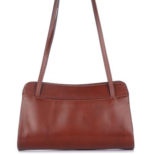 Женская кожаная сумка 9120 коричневая Италия