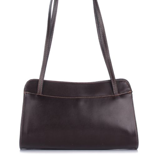 Женская кожаная сумка 9120 шоколадная Италия