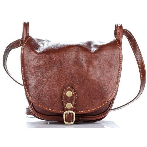 Женский кожаный клатч 9137 коричневый Италия