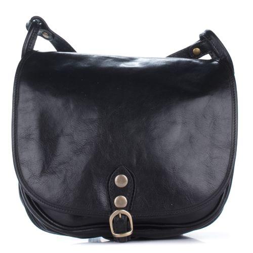 Женская кожаная сумка 9138 черная Италия