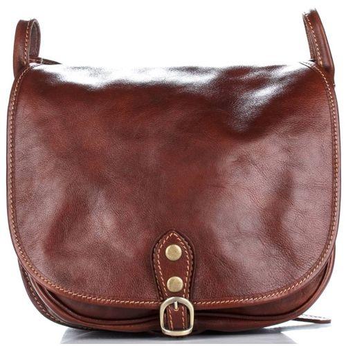 Женская кожаная сумка 9138 коричневая