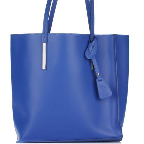Женская кожаная сумка 992 синяя Италия