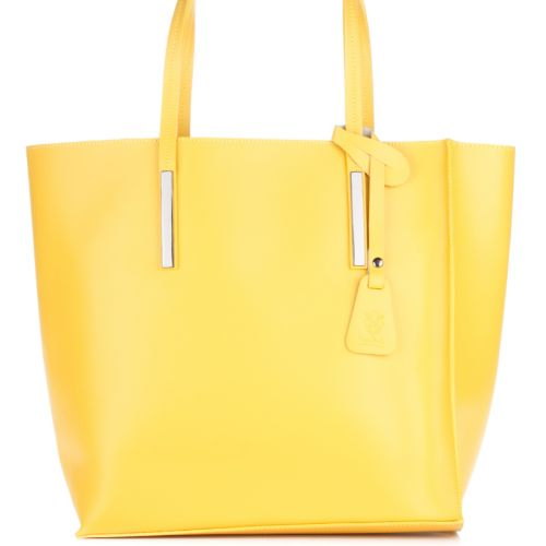 Женская кожаная сумка 992 желтая Италия