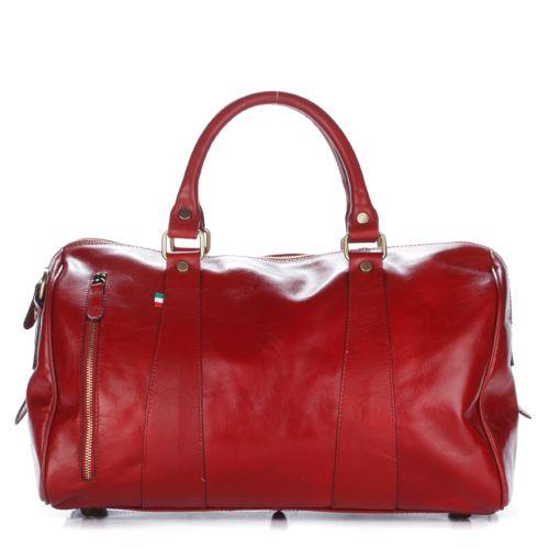 Женская кожаная сумка 995 красная Италия